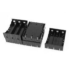 5 Stueck Schwarzer Kunststoff 3 x 3.7V 18650 Batterien 6-Pin Batterie Halter GY