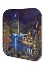 Horloge murale Saisons Décoration  lac moon Maison Acrylglas
