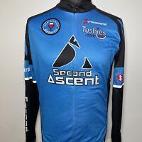 Hincapie Second Ascent Blue Black Cycling Shirt Jersey Retro Long Sleeve XL