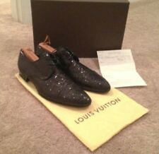 Louis Vuitton mens Midnight lace-up shoes in glitterGlitter 8.5 Authentic Rare