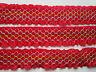 2 Meter Borte Spitze Nichtelastisch 3,8cm Rot breit elegante CL 049 NC