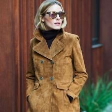 ZARA SUEDE JACKET TOBACCO OLIVIA PALERMO BLOGGERS SIZE S SMALL UK 8