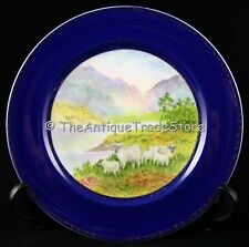 RETRO PORCELAIN PLATE HAND PAINTED STUDIO ART SIGNED BY ARTIST E L WILLIAMS