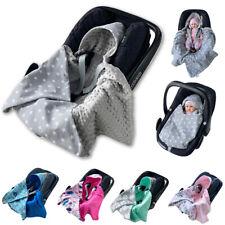 BABEES EINSCHLAGDECKE für Babyschale Maxi Cosi MINKY Decke Kaputze Kinderwagen