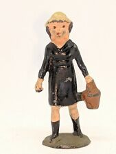 Johillco 54mm hollow-cast lead girl with basket for farm, zoo or railway (#2)
