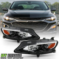 2019-2020 Chevy Malibu Halogen Headlights Headlamps Replacement Pair Left+Right
