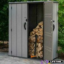 "New outdoor Lifetime 5ft 6"" x 4ft 5"" 1.7 x 1.4m Vertical 1812 Litre Storage Shed"