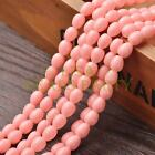 New Arrival 30pcs 9X7mm Teardrop Shape Loose Spacer Glass Beads Peach Pink