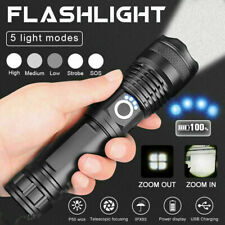 Super hell 990000lm Taschenlampe LED XHP50 Taktisches Fackel Zoom+26650 Batterie