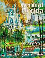"Delta Air Lines (Central Florida)11"" x 17"" Collector's Travel Poster Print-B2G1F"