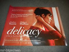 DELICACY - ORGINAL ROLLED DS BRITISH QUAD POSTER - 2012 - AUDREY TATOU