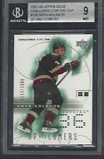 2001-02 UD Challenge For The Cup KRIS KOLANOS BGS 9 Mint not psa