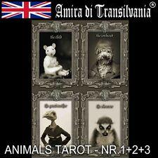 Animal human spirits guides messagges karma rare Tarot collection cards deck art