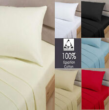 """300 500 800 Thread Count Original 100 Egyptian Cotton Duvet Sheet or 4 Piece Set Extra Deep Fitted 12"""" 500 Double White"""