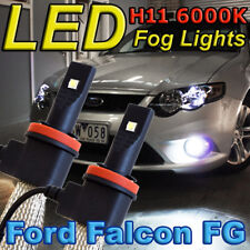 H11 6000K LED Light Bulbs to Suit 2008-2016 FG FGX Ford Falcon Fog Lights XR6