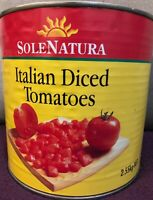 Diced Tomatoes 2.55KG - Italian Tomatoes - Tomatoes Diced - Exp 2022 -RAW tomato