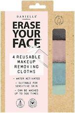 Danielle Erase Your Face Reusable Makeup Removing Cloths Soft Pastel x4 Boxed