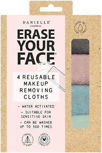 Danielle Erase Your Face Eco Friendly Reusable MakeUp Remover Soft color x4