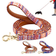 4ft Dog Leash With Handle PU Leather Padded Pet Walking Lead for Small Large Dog