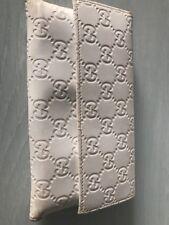 Portafoglio Gucci Donna Grande Bianco Pelle Guccissima Vintage Portamonete 35dc9962dc44