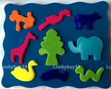 Nwt Rubbabu 3D Shape Sorter Natural foam toy plush baby gift in box 0+