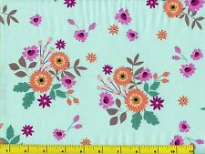 Orange Pink & Burgundy Flower Bouquets Flowers Quilting Fabric by Yard  #134