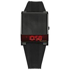 *BRAND NEW* Bulova Men's Computron Black Tone Digital Dial Watch 98C135