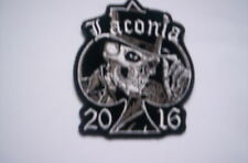 De usa bike week patch Laconia 2016c skull with a ca 8x6 CM
