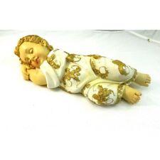 Gesù Bambino Dormiente Cm 11x30x8h Bimbo Bambinello Natività Pastori Presepe