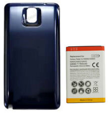7800mAh Extended Capacity Battery + Cover For Samsung Galaxy Note 3 - Blue