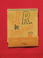 *** J.R. for President matchbook - J.R. Ewing Merchandise Offer Inside  - Full