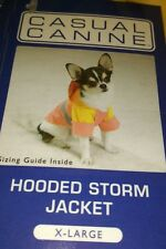 Casual Canine Storm Coat full lined full body coverage. Bright colours with hood