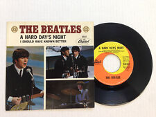THE BEATLES-A HARD DAY'S NIGHT-Capitol 5222-PS 7.5  VINYL 6.0