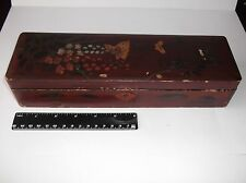 Antique Chinese wood box with beautiful pictures.