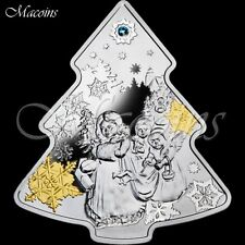 CHRISTMAS TREE 2014 Niue 2NZ$. 1oz Silver Proof Coin with Swarovski Element