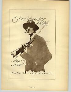 1926 Ludwig Hohlwein Munchen Carl Bister Crefeld Oberlander Hute Poster Print