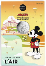 ARGENT 10 euro 2018 France Coin Mickey Mouse Disney Park pack pas Peter Rabbit