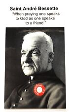 Saint André Andre Bessette relic card, brother of the Congregation of Holy Cross