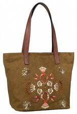 TOM TAILOR Nika Shopper Schultertasche Shopper Tasche Khaki Braun Orange Neu
