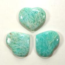 "2.1"" Amazonite Heart Green Polished Crystal Feldspar Mineral Stone -India (1PCS)"