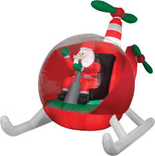AIRBLOWN HELICOPTER SANTA Animated Christmas Holiday Inflatable Yard Décor Prop