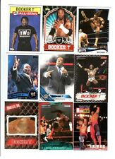 Booker T Wrestling Lot of 9 Different Trading Cards 1 Insert WWE TNA BT-D1