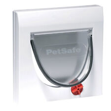 PetSafe Staywell Manual 4 Way Locking Cat Flap Door White with Tunnel