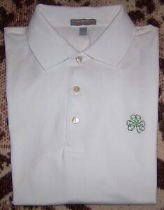 PETER MILLAR SUMMER COMFORT Polo Shirt ERIN HILLS GOLF CLUB White Sz L TOP 100