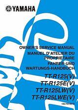 Yamaha owners service manual 2006 TT-R 125, TT-R125(V) & TT-R125E(V)
