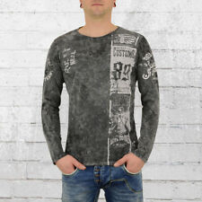 Rusty Neal Longsleeve Männer Langarm T-Shirt Heritage Customs anthrazit Herren