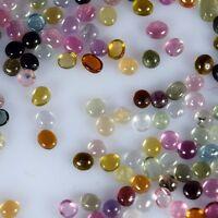 50 Pcs. Natural Fine Quality Multi Colour Tourmaline 1-2 Mm~ Mix Shape Cabochon