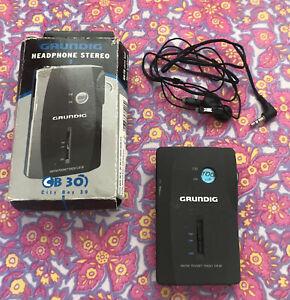 GRUNDIG AM FM Pocket Radio CB 30 Portable City Boy music base unit