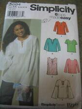 Simplicity Sewing Pattern 8160 pierde Disfraz de utilería marinero School Girl