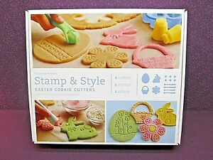WILLIAMS-SONOMA STAMP & STYLE EASTER COOKIE CUTTERS SET - NEW IN SEALED BOX